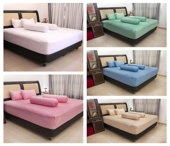 Bed Cover Putih Polos My Love