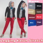 Celana Legging Katun Stretch