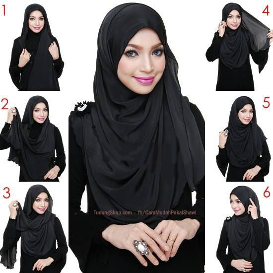 Tutorial Hijab Pashmina Simple Terkini Cantik