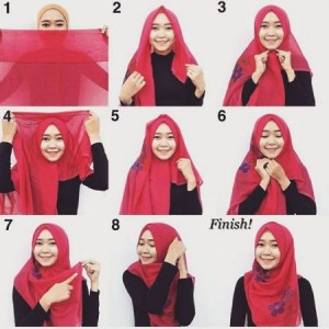 Tutorial Hijab Syar'i Pashmina Simple dan Cantik