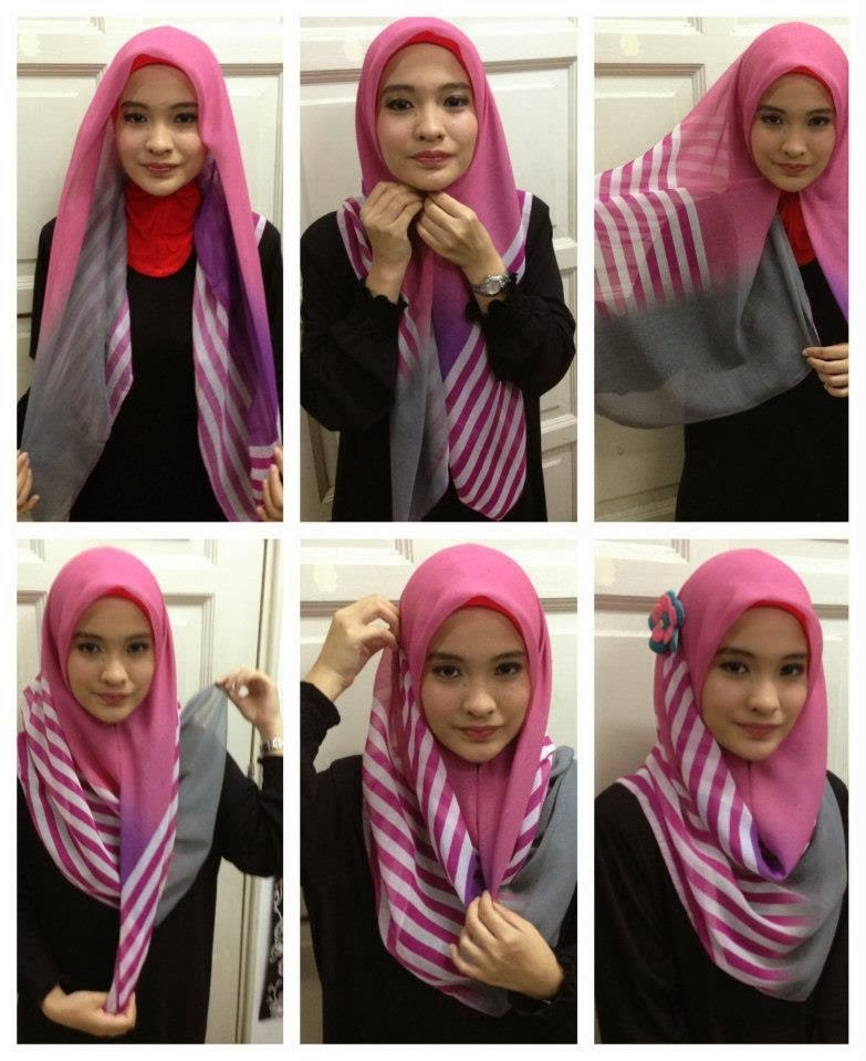 Tutorial Hijab Segi Empat Paris Simple dan Modis