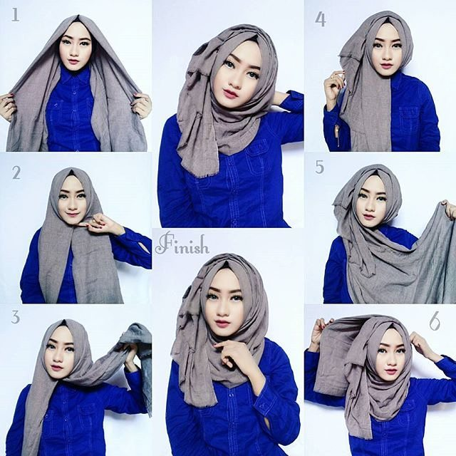 Tutorial Hijab Segi Empat Paris Simple Dan Modis Terbaru