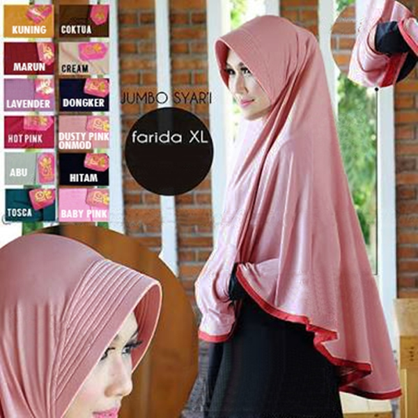 Jilbab Instan Bergo Pocket Mini (Uk. XL) Jumbo