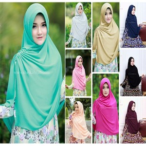 Tutorial Hijab Segi Empat Paris Simple