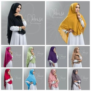 Jilbab Syar'i Two Layers Khimar Dhanisa